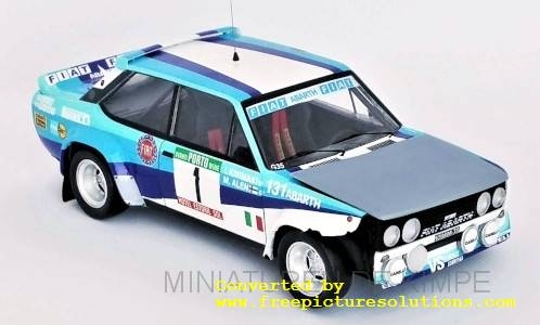 Fiat 131 Abarth,Rallye Portugal, Crashed Car ,1981