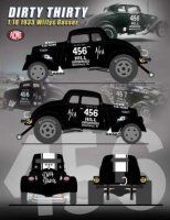 Willys Gasser 1933 Dirty Thirty with Fuel Injected 426 Hemi Engine