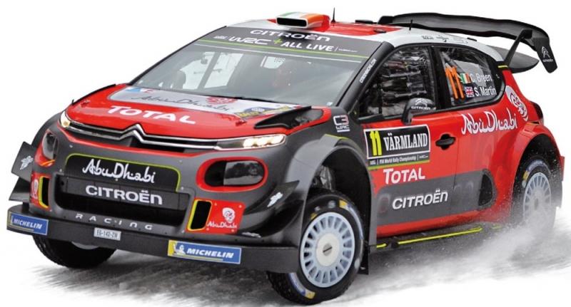 Citroen C3 WRC Rallye Zweden 2018