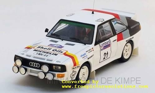 Audi Sport Quattro,Shell Oils,RAC Rallye 1986