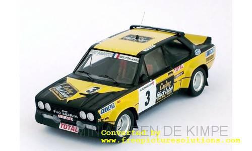 Fiat 131 Abarth,Boucles De Spa 1980