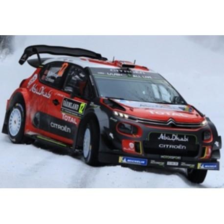 CITROEN C3 WRC CITROEN TOTAL ABU DHABI WRT RALLYE SWEDEN 2018
