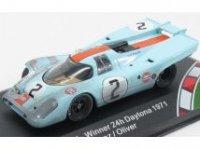 PORSCHE 917K TEAM J.W. AUTOMOTIVE ENGINEERING GULF WINNER 24h DAYTONA , AFTER RACE,  1971