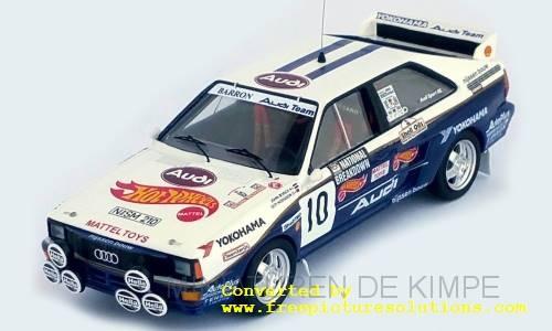 Audi Quattro,Mattel,Hot Wheels,National Breakdown Rally, 1987