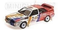 Audi Quattro A2, schmidt Motorsport, winners Int. Avd-sth Hunsruck Rallye 1984