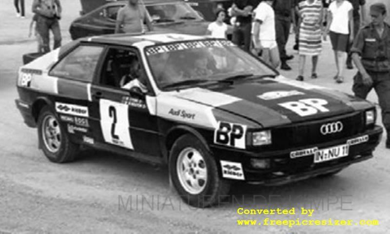 Audi Quattro, Rallye Des 1000 Pistes  1981