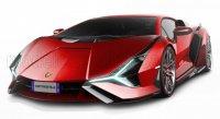 Lamborghini -sian Fkp 37 Hybrid 2020 , rood