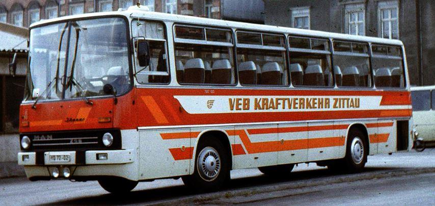 Ikarus 256  wit / rood  Kraftverkeer Zittau