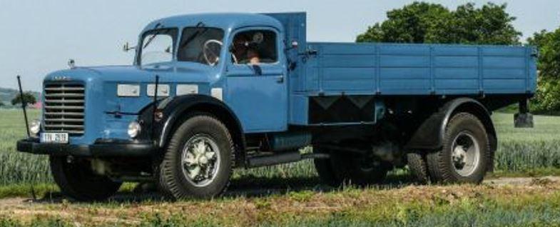 Skoda 706 R,  Pritsche, 1952  , blauw ,zwart
