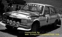 Peugeot 504 TI, Rallye Marokko 1975 nr4, t.makinen, h.liddon.