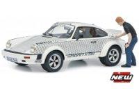 Porsche 911 Röhrl x911 + FIGUUR Walter Röhrl ,wit ,zwart