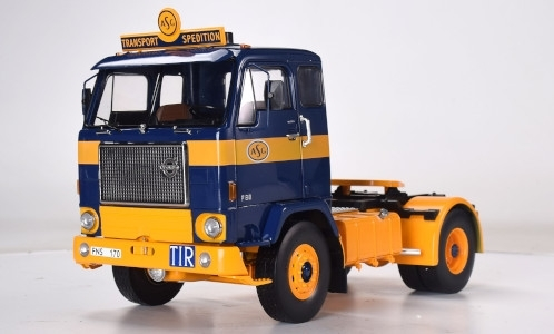 Volvo F88, ASG, 1971 , blauw ,geel