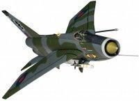 Electric Lightning F6 XS904 BQ RAF No11 Squadron Binbrook 1987
