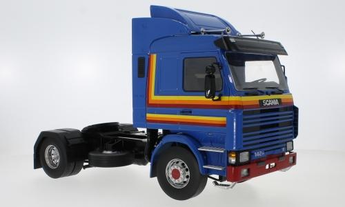 Scania 143 Topline, blauw, 1987