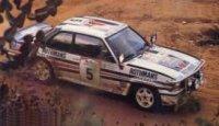 Opel Ascona 400 #5 W. Rohrl/C.Geisterdorfer 2nd place Marlboro Safari Rally 1982