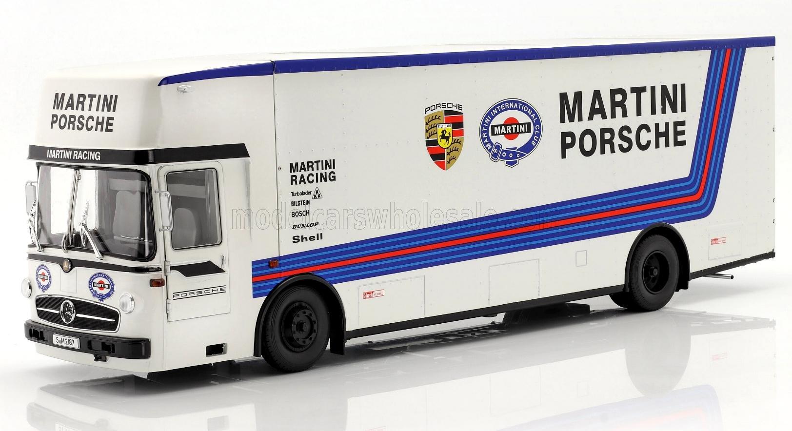 MERCEDES O317 TRUCK CAR TRANSPORTER PORSCHE MARTIN
