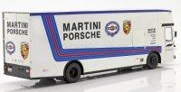 MERCEDES O317 TRUCK CAR TRANSPORTER PORSCHE MARTINI RACING 1968