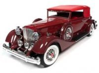 Packard V12 Victoria 1934 Soft Top, rood