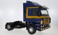 Scania 143 Topline, blue fonce  , jaune, ASG, 1987