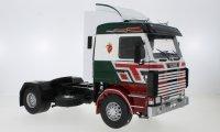 Scania 143 Topline, vert/rouge, Bilspedition, 1987