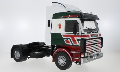 Scania 143 Topline, donker groen /rood, Bilspediti