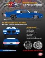 Pontiac GTO 1970 *Drag Outlaws*, blue