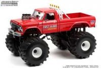 Ford F-250 1978 Monster Truck with 66-Inch Tires *First Blood*, rouge
