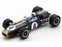 BRABHAM F1 BT11A N 4 WINNAAR SANDOWN PARK CUP - TASMAN SERIES 1965 JACK BRABHAM -  groen goud