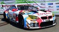 BMW  6 SERIE M6 GT3 / TEAM WALKENHORST MOTORSPORT N 100 24h NURBURGRING 2021 H.WALKENHORST - F.VON BOHLEN - J.BREUER - A.ZIEGLER , BLANC ROUGE  / BLEU CLAIR
