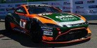ASTON MARTIN - VANTAGE AMR GT4 TEAM PROSPORT RACING N 71 24h NURBURGRING 2021 G.DUMAREY - M.DUMAREY - A.WALKER - M.HESS , ORANGE / NOIR / VERT