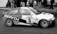 Ford Escort RS Cosworth, No.5, Rally San Remo, B.Thiry/S.Prevot, 1996