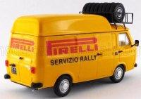 FIAT 238 VAN TETTO ALTO CON PORTAPACCHI PIRELLI ASSISTENZA RALLY 1973 - HIGH ROOF WITH RACK