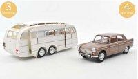 Peugeot 404 1965 - Bruin metallic with Caravan Hénon , 4 openingen