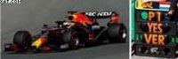 RED BULL RACING RB16B N°33 HONDA RED BULL RACING WINNER GP PAYS-BAS 2021 MAX VERSTAPPEN W/ PIT BOARD