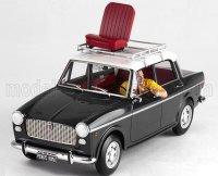 FIAT - 1100D WITH MIMMO FIGURE (CARLO VERDONE) 1981 BIANCO ROSSO E VERDONE MOVIE , Gris