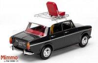 FIAT - 1100D WITH MIMMO FIGURE (CARLO VERDONE) 1981 BIANCO ROSSO E VERDONE MOVIE , Grijs