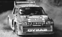 MG Metro 6R4, No.35, RAC Rally, 1986 W.Rutherford/B.Harris