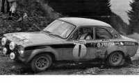 Ford Escort MKI RS 1600, No.1, Welsh Rally, Old Gold, R.Clark/J.Porter, 1972