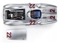 MERCEDES BENZ - F1 W196R STREAMLINERS N 22 GP FRANCE 1954 H.HERRMANN - CON VETRINA - WITH SHOWCASE - ARGENT