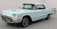 Ford Thunderbird hard top, bleu clair , 1960
