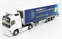 VOLVO - FH4 500XL GLOBETROTTER TRUCK SEMI-FRIGO PRIMEVER TRANSPORTS 2016 - BLANC /  BLEU